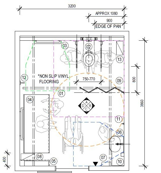 Download the AUTOCAD files. Changing Places toilets designs with plans   elevations